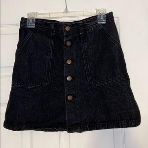 Dark wash jean skirt